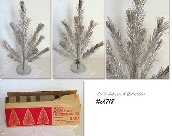 Vintage 2 ft. Treasure Pine Aluminum Christmas Tree (Inventory CH718)