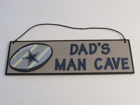Dallas Cowboys Man Cave Decor : Nfl dallas cowboys football dad s man cave sign