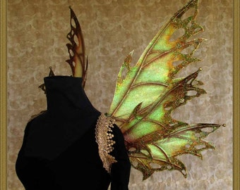 Adult Fairy Wings**Iridescent Olive/Gold/Rust**FREE SHIPPING**Costume/Photography/Cosplay/Weddings/Renn Faires