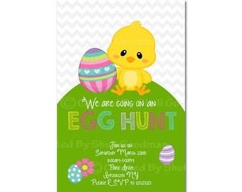 easter  Invitations - printable - DIY - digital file (Easter3)