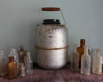 Large Silver Glass Insulated Thermos