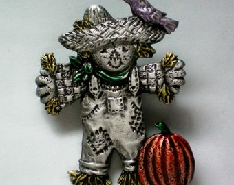 Halloween Scarecrow with Pumpkin Pin - 3531