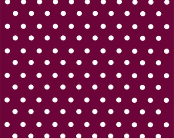 Maroon with white polka dots craft  vinyl sheet - HTV or Adhesive Vinyl -  polka dot pattern HTV161