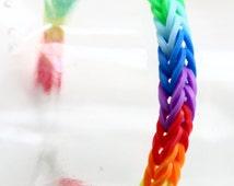 Handmade Rainbow Fishtail Loom Bracelet Gift Kids Cute Bracelet
