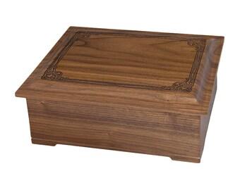 Walnut Renaissance Companion Wood Cremation Urn