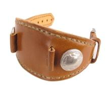 Horween Whiskey Shell Cordovan Buffalo Nickel Wrist Watch Band 20mm