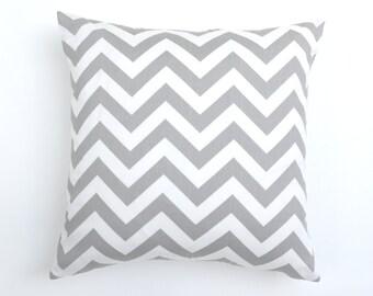20% OFF SALE Gray pillow covers, Decorative pillows, Grey chevron pillow , grey chevron euro sham , lumbar pillow , pillow cover only
