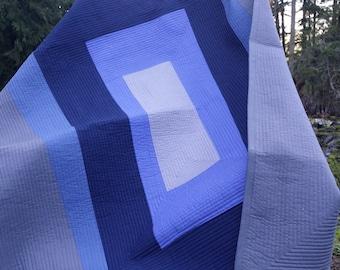 Modern quilt, baby quilt, throw quilt, twin quilt, queen quilt, king quilt, monochromatic quilt, man quilt, boy quilt, bedding, contemporary