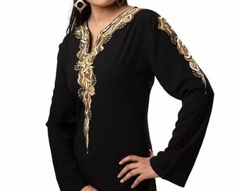 Soft And Nice Quality Black Crape Top For All Girls
