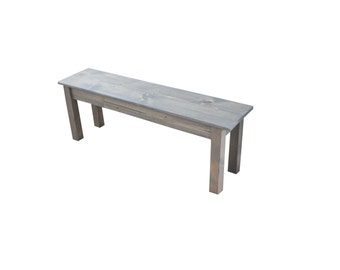Farmhouse Bench (Driftwood Grey) / Grey Bench