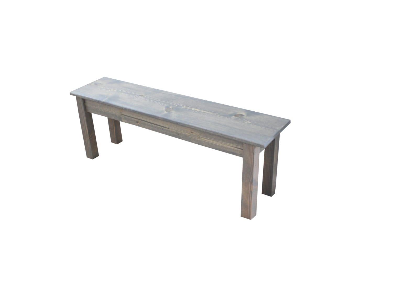 Farmhouse Bench Driftwood Grey Grey Bench