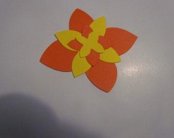 layered flower #2 die cuts