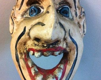 Zacatecas Mexico Relic Wooden Mask Folk Art Collectible