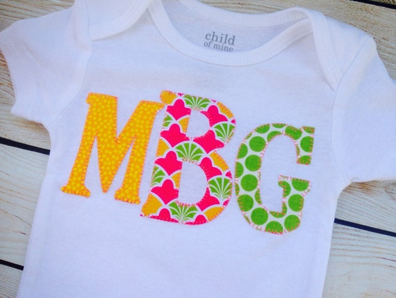 items similar to monogram onesie girls name custom onesie shower gift by sweet sprouts on etsy