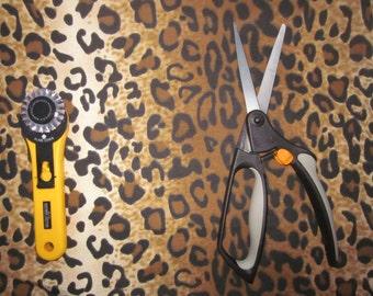 Leopard Print Fabric, Animal Print, Safari print, Zoo print, 1/2 yard, Cotton Fabric, Craft Fabric