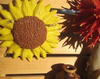 Ceramic Sunflower Wall Hanging