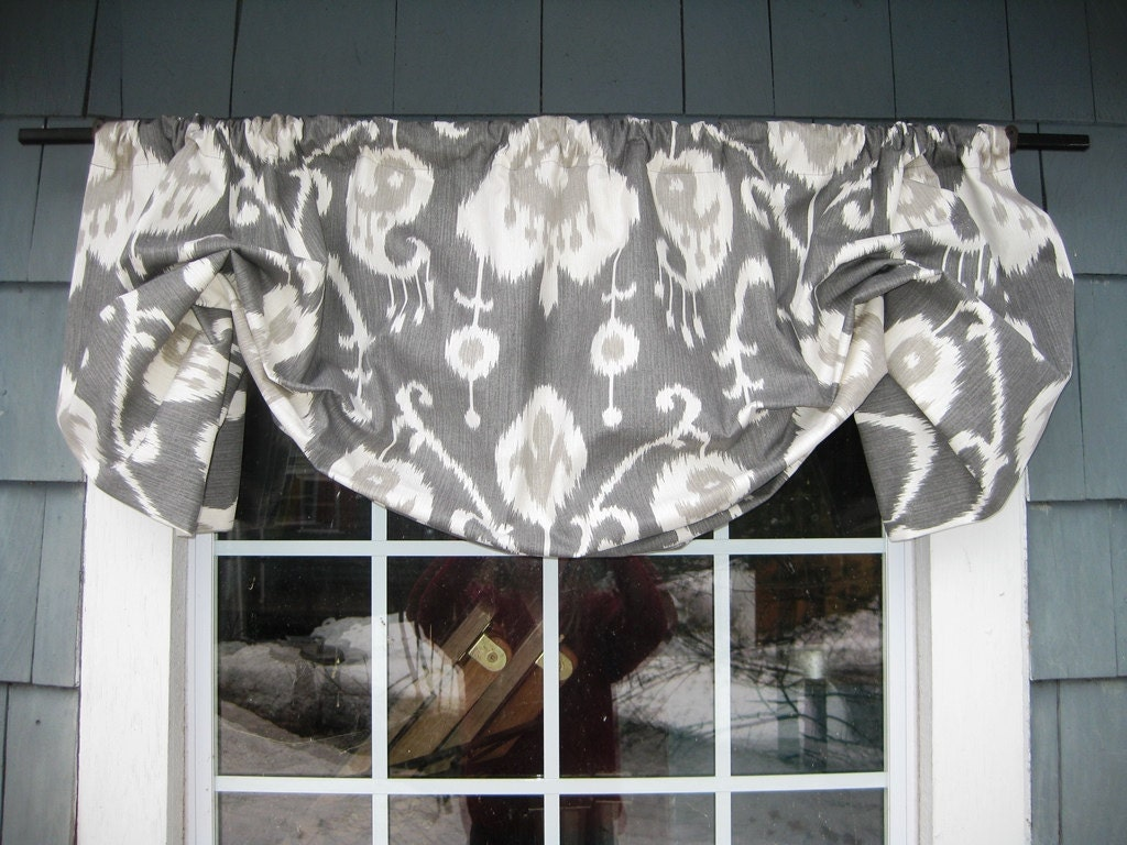 Valance Gathered Mock Roman Rod Pocket Window Treatment in