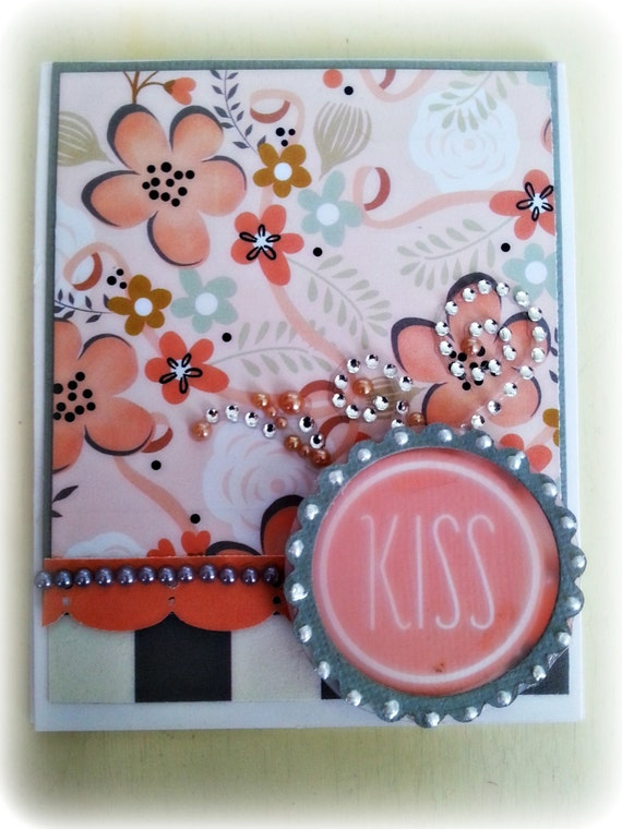 Kiss! Anniversary, Wedding, Miss You, Love, Engagement.  Greeting Card. Perfect for any ocassion.