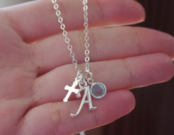 Baptism Necklace Baptism Gifts for Girls First Communion