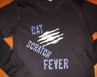 Cat scratch fever Panthers spirit shirt this listing for short sleeves