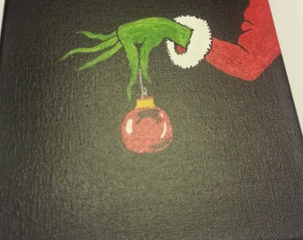 Grinch inspired painting 8 x 10 (Ready to ship)