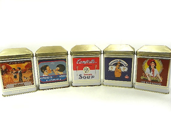 5 tin spice cans by nestle foods