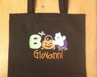 Boy Boo Halloween Treat Bag