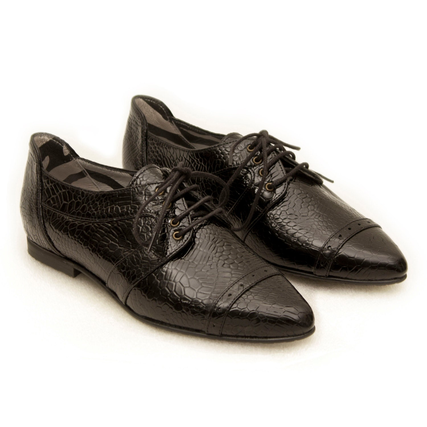 black shoes pointy flats black oxfords shoes by