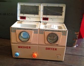 Vintage Toy Washer Dryer Westinghouse Battery Operated Metal Pink Set