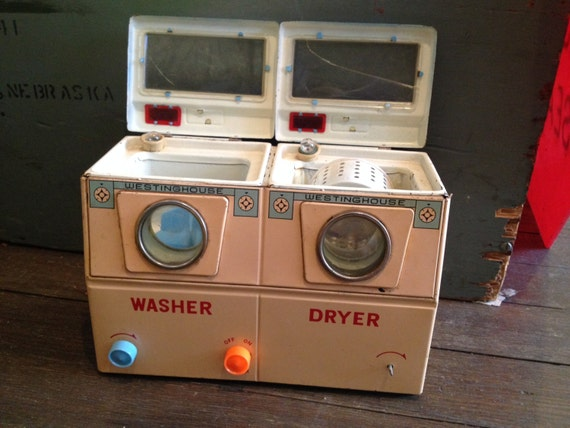 Battery Operated Dryer ~ Vintage toy washer dryer westinghouse battery by