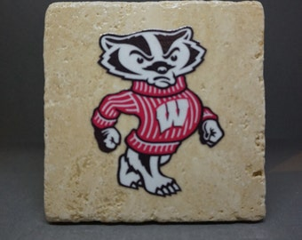 University of Wisconsin-Madison (Bucky) Coaster (4-Pack)