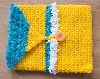 iPad sleeve, crochet tablet cover or case