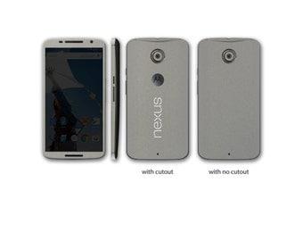 Nexus 6 Front, Back, or Sides Wrap DECAL Sticker Skin Kit 3M Metal series by Stickerboy - Set 1