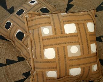 Woven Jute Webbing floor pillow
