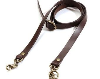 """40.5"""" byhands 100% Genuine Leather Adjustable Shoulder Crossbody Bag Strap (40-1009)"""