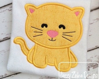 Kitten 56 Applique embroidery Design - cat Appliqué Design - kitten Applique Design