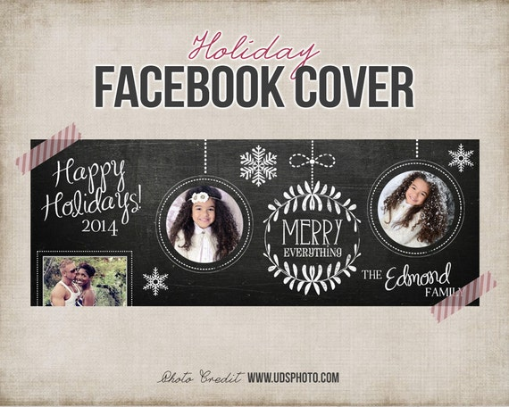 christmas chalkboard facebook cover photo collage holiday