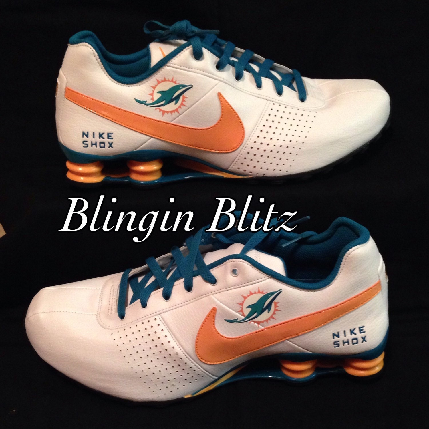 09ab3021 italy the newly classic nike shox deliver takes on a miami dolphins ...