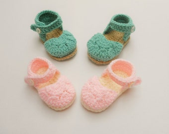Crochet baby sandals, Crochet Baby shoes, Summer sandals, crochet baby sandals, 0  6 month, 6 12 m baby sandals, Crochet booties, UK Seller
