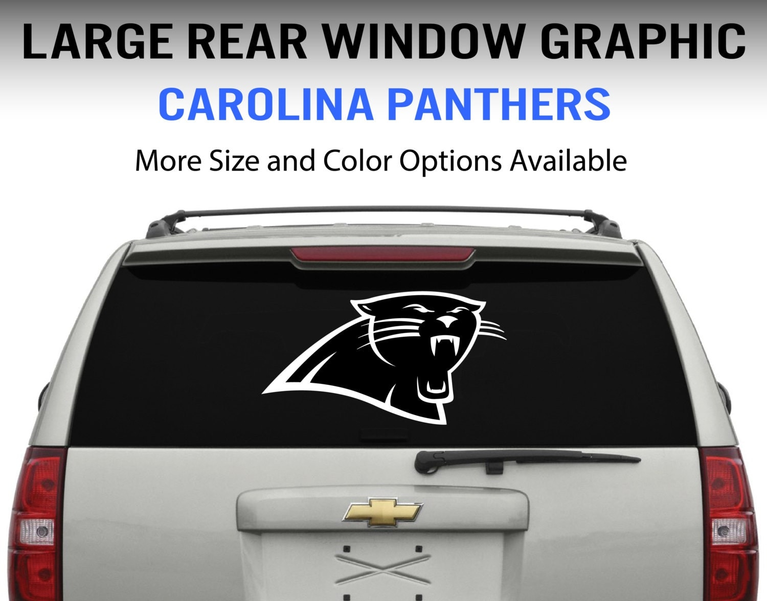 Carolina Panthers Window Decal Graphic Sticker For Truck Car - Rear window decals for vehicles