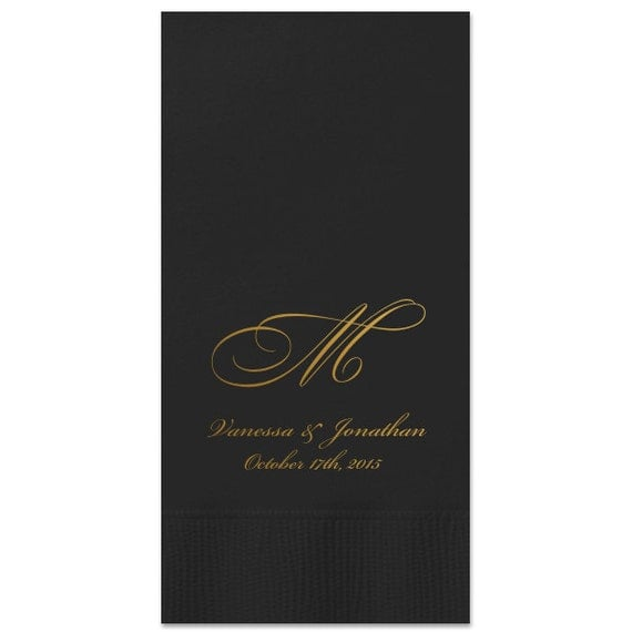 100 personalized guest towels dinner napkins by memorablewedding