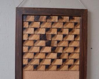 Reclaimed wood wall art hanging