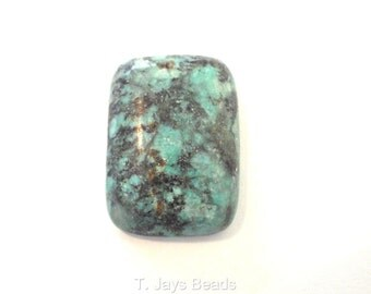 1 x 18x26mm African Turquoise Rectangle Cabochon