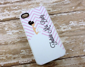 Personalized Pink Bride to be phone case - Iphone 4 - Iphone 4/4s/5/5s/5c iphone 6 - Bridal shower-wedding party-Unique gift-Pink