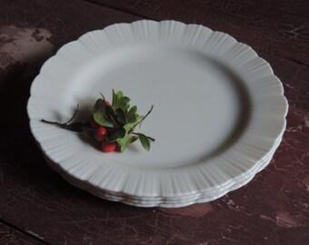 "MacBeth-Evans Plates Cremax  Dinner Plates Set of four MacBeth Evans Petalware 9"" Plates"