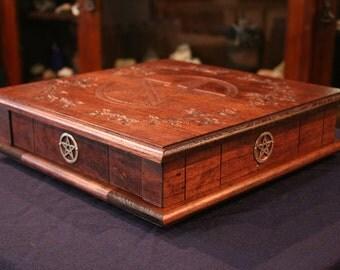Solid Wood Portable Altar with secret, spring-loaded drawer