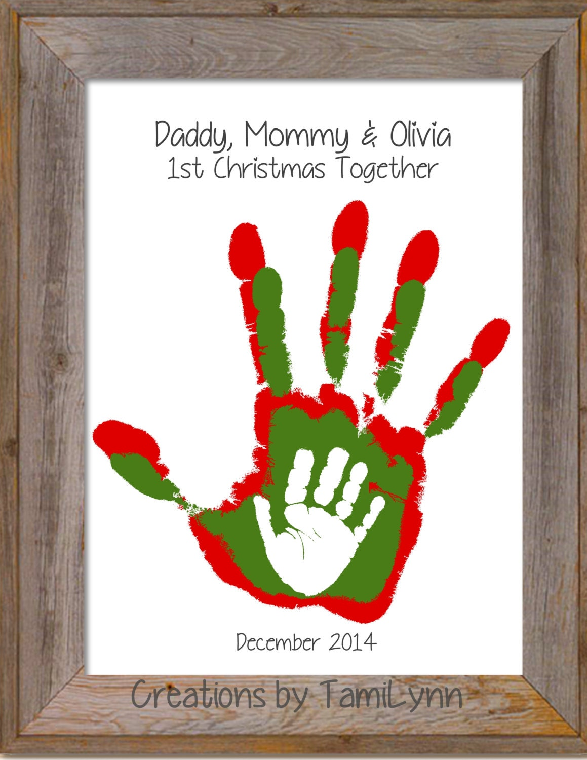 Christmas Parent and Child Handprint Art by ...