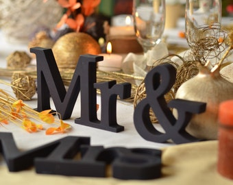 Mr. &. Mrs.. wood sign wedding decor,  Mr. and Mrs. wooden letters, Wedding sign, Wedding Decor, Rustic sign