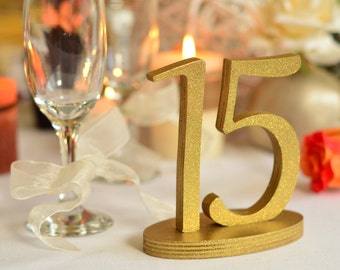 Table Number \ 1 to 20 set \  Wooden number, Table numbers for wedding
