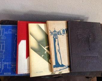 Set Of Five 1930's Yearbooks fr Excelsior High School Norwalk, CA